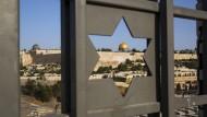 Im Zentrum der Konflikte: Blick auf den Tempelberg in Jerusalem mit dem Felsendom