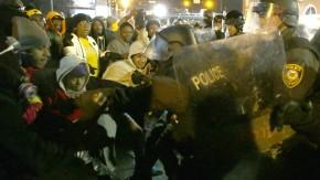 In Ferguson kam es in in der Nacht zum Mittwoch abermals zu Auseinandersetzungen mit der Polizei