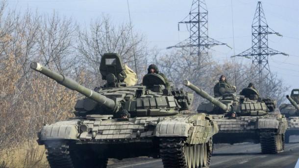 Separatisten schicken Panzer nach Donezk
