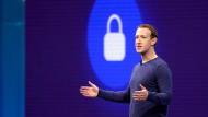 Mark Zuckerberg, Vorstandsvorsitzender von Facebook, im Mai 2018 in San Jose