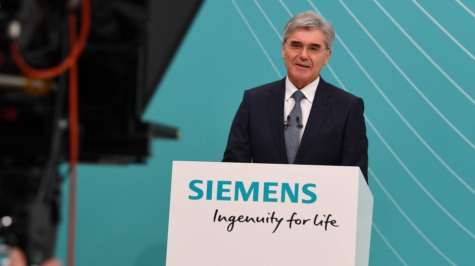 Joe Kaeser bei der virtuellen Siemens-Hauptversammlung am 9. Juli