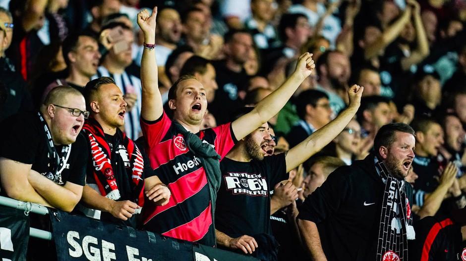 Eintracht-Fans bei der Partie gegen Vitória Guimarães