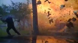 Auto rast in Haus - Gasleitung explodiert