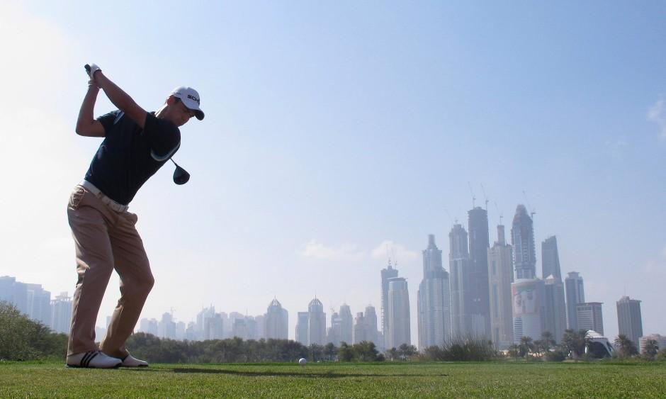 Martin Kaymer 2011 beim Profiturnier Dubai Desert Classic