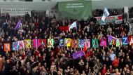 """""""Die Hoffnung kommt"""": Auf einer Syriza-Wahlveranstaltung im Januar."""