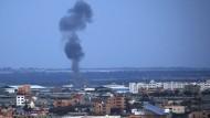 Rauch steigt auf über Rafah im südlichen Gazastreifen