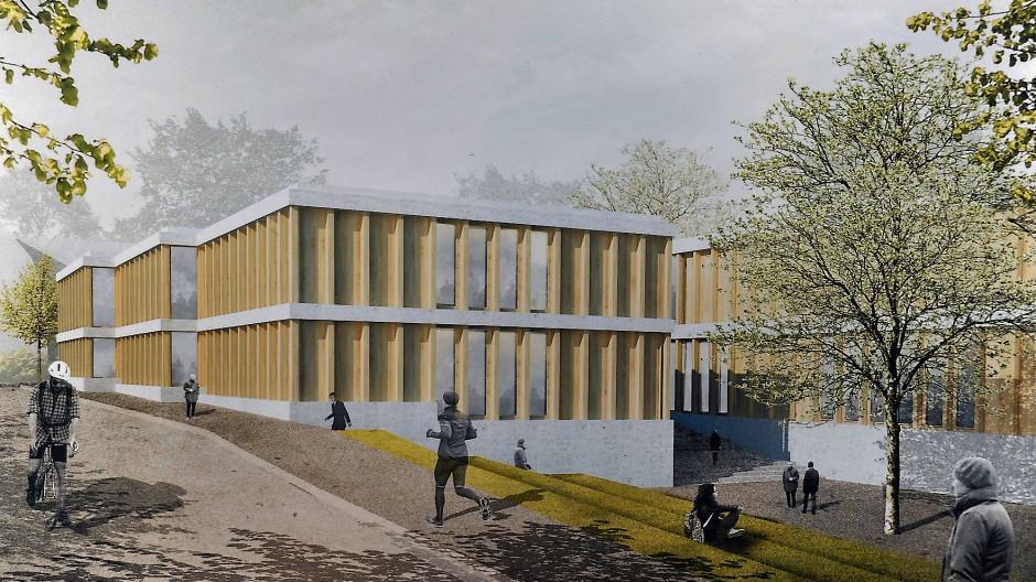 Baustart zum Jahreswechsel: das neue Getränketechnologische Zentrum der Hochschule Geisenheim im Architektenentwurf aus dem Jahr 2017