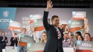 Den größten Kampf schon gewonnen: Mike Mohring im September auf dem Landesparteitag der CDU in Geisa