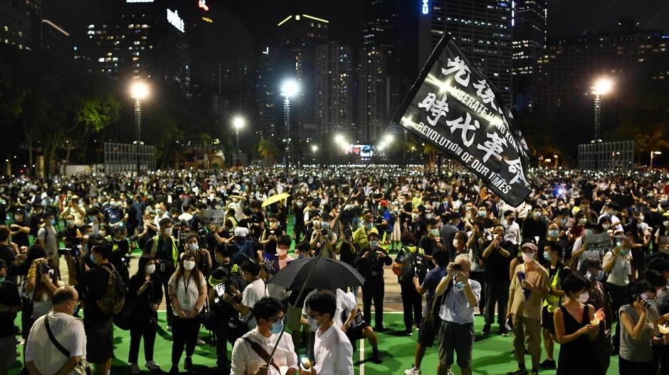 Studierende protestieren in Hongkong