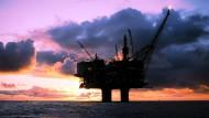 Die norwegische Ölplattform Statfjord A in der Nordsee.