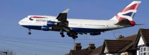 Eine 747 im Anflug auf London-Heathrow.