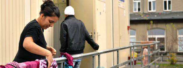Es fehlt an Unterkünften: Wohncontainer für Flüchtlinge in thüringischen Eisenberg (Archivbild)