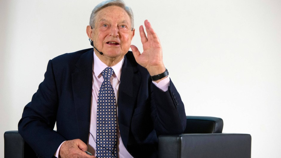 George Soros in Frankfurt