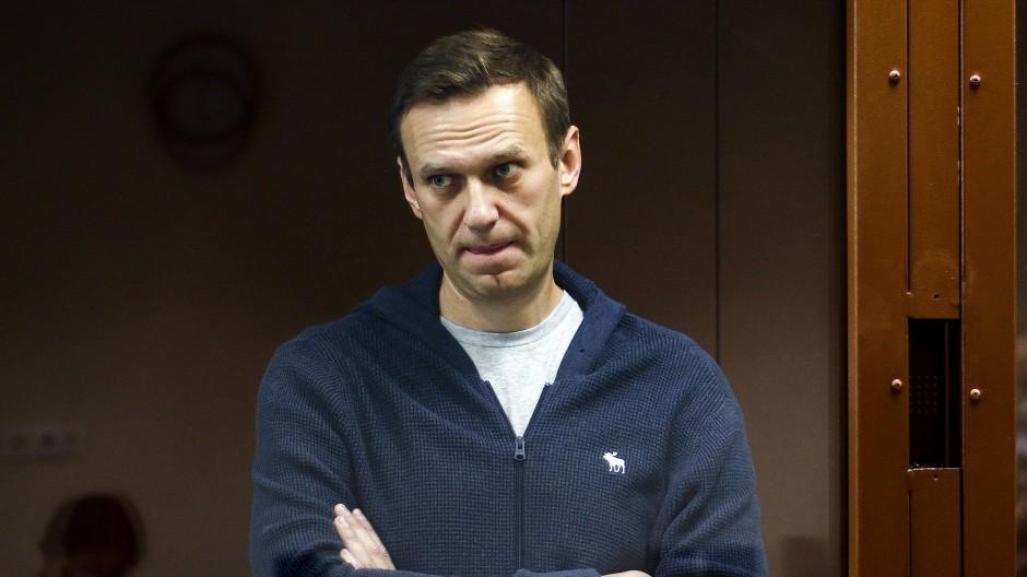 Alexej Nawalnyj bei einer Gerichtsanhörung im Februar