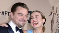 Die Besten: Brie Larson und Leonardo DiCaprio gewinnen jeweils als beste Hauptdarsteller.