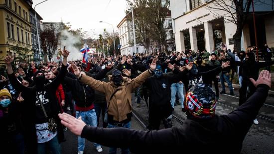 Proteste gegen Corona-Maßnahmen in der Slowakei