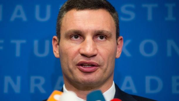 Klitschko und die Absicht, eine Mauer zu bauen