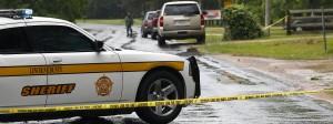 Polizeiabsperrung am Tatort im Bezirk Lincoln, Mississippi