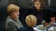 Jamaika-Verhandler: Angela Merkel, Renate Künast und Katrin Göring-Eckardt