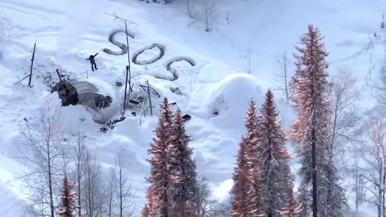 Mann aus Schneehölle gerettet
