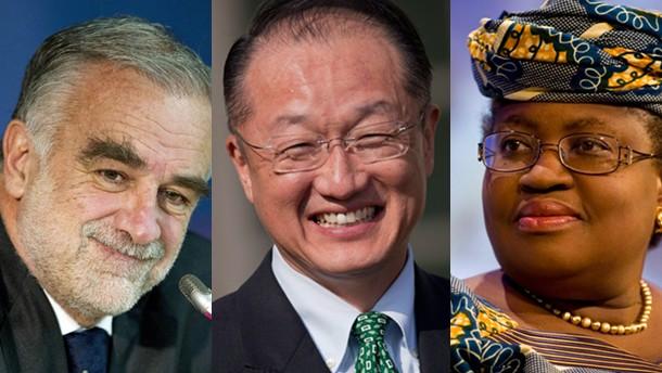 Drei Kandidaten für die Weltbank