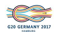 Das Logo des diesjährigen G20-Gipfels in Hamburg zeigt einen Kreuzknoten.