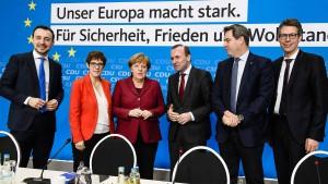 CDU und CSU beschließen einstimmig ihr Europawahlprogramm