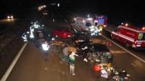Die Unfallstelle auf der A2 bei Magdeburg