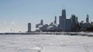 Nicht nur Chicago und der Lake Michigan leiden derzeit unter eine extremem Kältewelle.