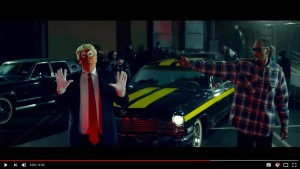 Snoop Dogg richtet Pistole auf Trump-Clown