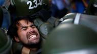 Gewalt bei Studentendemo in Chile