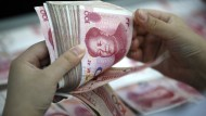 Der chinesische Yuan hat stark nachgegeben.