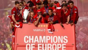 500.000 Fans heißen Champions-League-Sieger willkommen