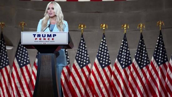 Tiffany und Eric Trump unterstützen Vater Donald