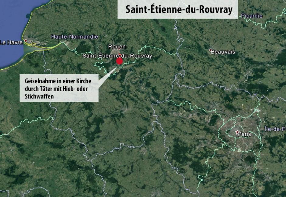 Nordfrankreich Karte.Bilderstrecke Zu Geiselnahme In Der Normandie In Frankreich Beendet