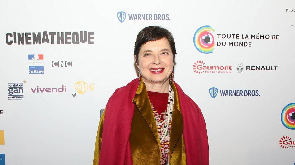 Die Schauspielerin Isabella Rossellini auf einem Filmfestival in Paris im März 2020