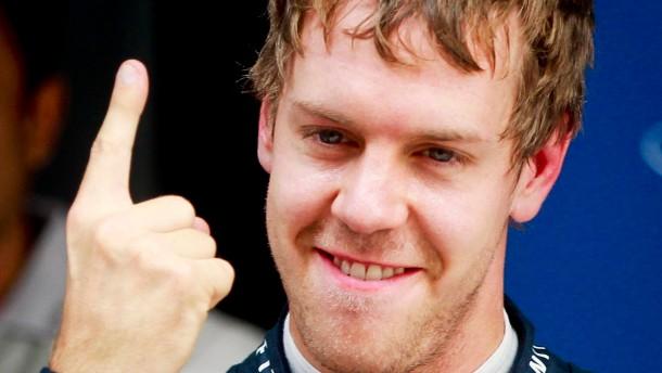 Vettel zum 13. Mal auf der Pole Position