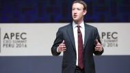 Facebook-Gründer Mark Zuckerberg hat wohl weiterhin ein Auge auf China.