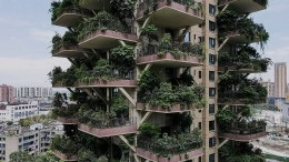 Hochhäuser als vertikale Gärten in Chengdu