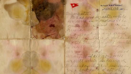 Titanic-Brief erzielt Rekordpreis bei Versteigerung