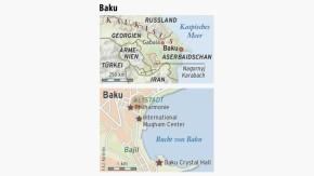 Karte / Eurovision Song Contest Aserbaidschan / Baku