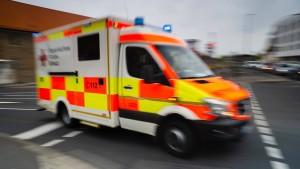 Rettungswagen explodiert in Bad Segeberg