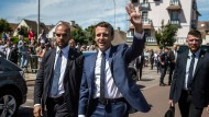 Hoffnungsträger: Emmanuel Macron am Sonntag in Le Touquet