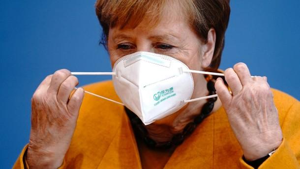 Angela Merkel spricht über die Pandemie-Situation in Deutschland