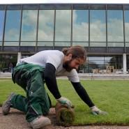 Werden wohl immer gebraucht: Landschaftsgärtner (hier in Stuttgart)