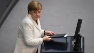 Merkel stellt Großbritannien auf harten Kurs der EU ein