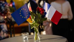 Macron und die Karte Europa