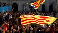 Junge Demonstranten Mitte Oktober in Barcelona.