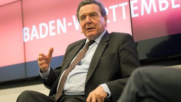 Gesprächsrunde mit  Altbundeskanzler Gerhard Schröder