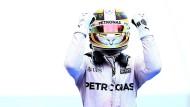 Alles astrein? Lewis Hamilton darf in Kanada wieder jubeln.